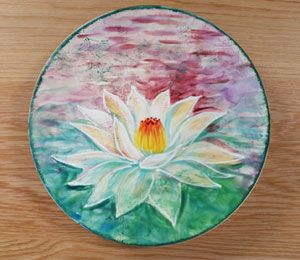 Carmel Lotus Flower Plate