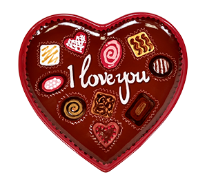 Carmel Valentine's Chocolate