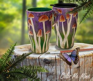 Carmel Mushroom Mugs