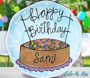 Carmel Birthday Plate