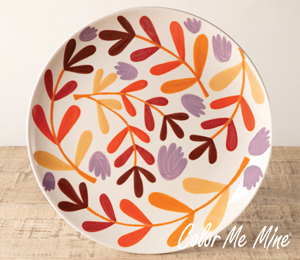 Carmel Fall Floral Charger