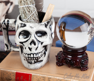 Carmel Antiqued Skull Mug
