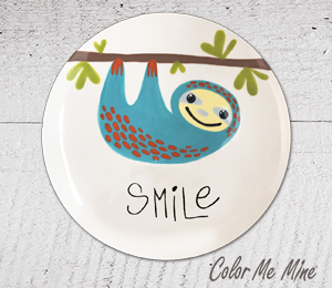 Carmel Sloth Smile Plate